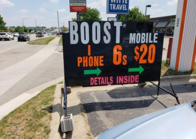 light-bright-portable-black-signs boost mobile store grand rapids retail specials signage