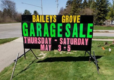 Portable black signs for businesses in and around Grand Haven, Michigan made by and brought to your business for drivers to see along road side from Light Bright Signs! The leader in Michigan's Black Sign business