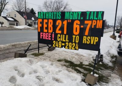Hulst Jepsen Arthritis talk event light Bright Signs