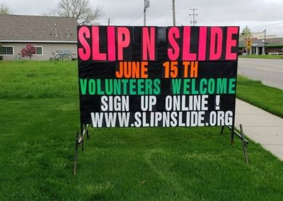 Slip-n-Slide even in Hudsonville Light Bright Signs